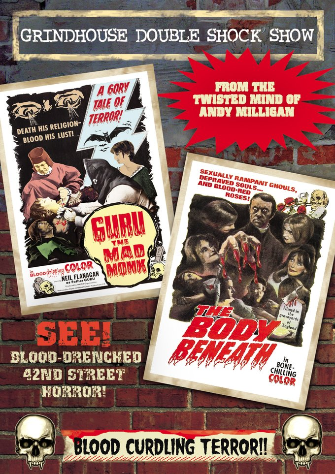 Grindhouse Double Shock Show: Guru: The Mad Monk / The Body Beneath (DVD)